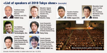 List of speakers at 2019 Tokyo show> (excerpts)